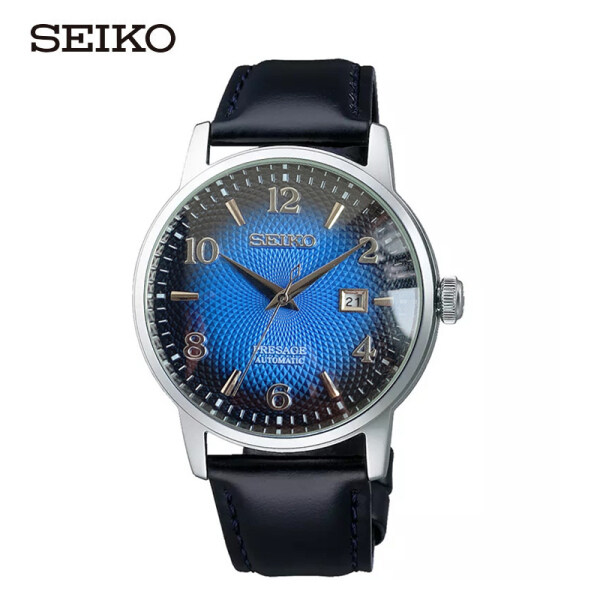 [SEIKO] Seiko Presage Cocktail Manhattan Blue Dial Blue Leather Strap Watch SRPE43J1 New Arrival Men Watch Malaysia