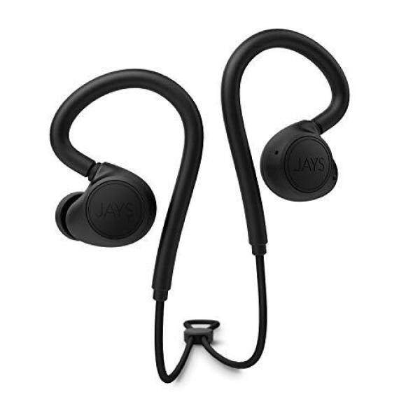 JAYS m-Six Wireless Wireless earphones for sports (Bluetooth 5.0/IPX4 drip-proof/quick charge/Qualcomm aptX/black/black) JS-MSW-B/B Singapore