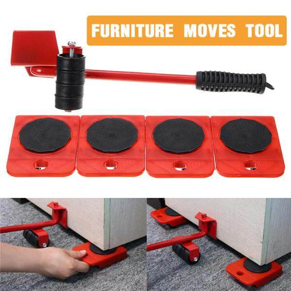 【2019 NEW】(5 in 1) Heavy Furniture Move Tool Transport Lifter Shifter Moving Kit Slider Remover Rolling Wheel Corner Mover Set For Moving House Cabinet Sofa Bed Desk