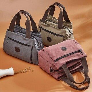Túi Xách cho nữ chất liệu vải với sức chứa lớn tiện lợi bền bỉ thích hợp sử dụng hằng ngày - INTL thumbnail