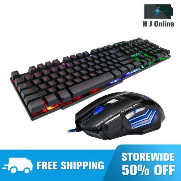 Wired Gaming Keyboard Mouse Kit USB 104-Key Mechanical Keyboards Computer Accessories Singapore