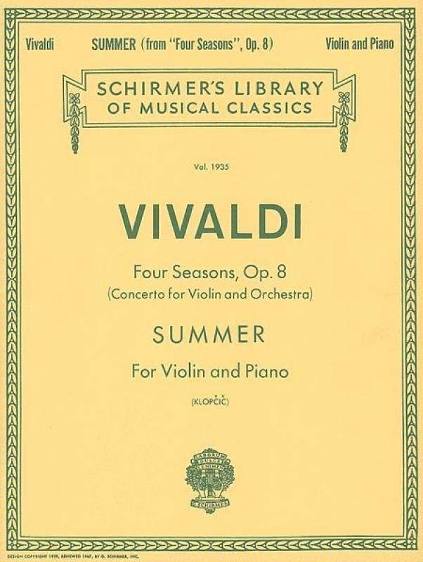 Summer Schirmer Library of Classics Volume 1935 Violin and Piano Malaysia