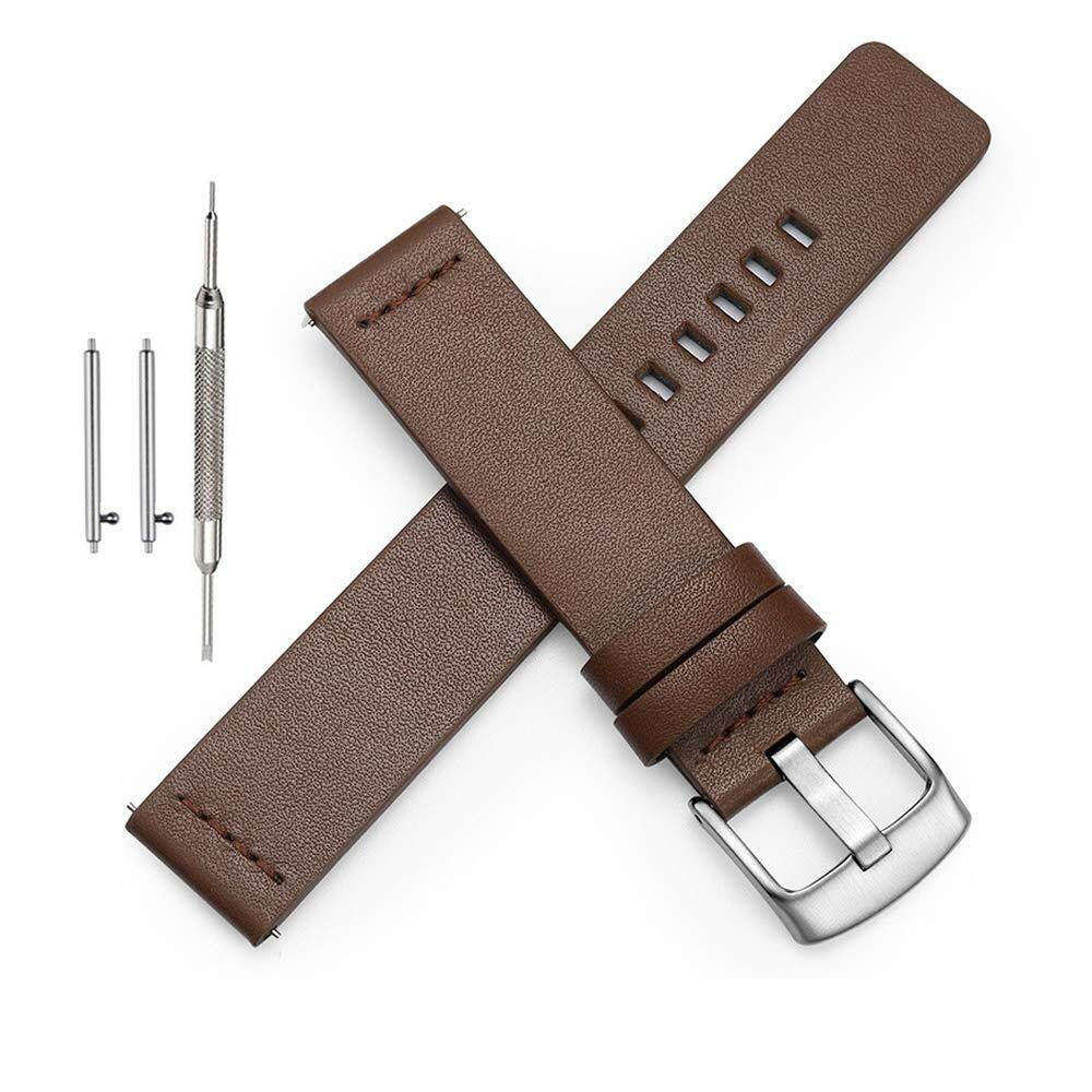 Quick Release Leather Watch Band Genuine Leather Replacement Wrist Strap for Men Women Choice of Width 18mm 20mm 22mm 24mm Malaysia