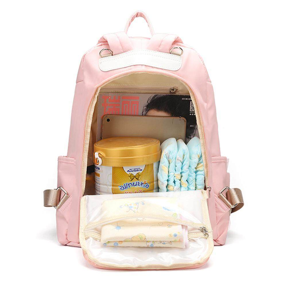 DS-Mart Diaper Bag Backpack - Lightweight Waterproof Nylon Mommy Bag Embroidery Design Large Travel Baby Bags Nappy Bag