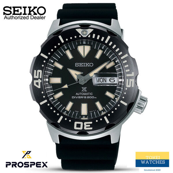 Seiko Prospex SRPD27K1 Mens Automatic Monster Divers 200M Black Silicone Strap Watch Malaysia