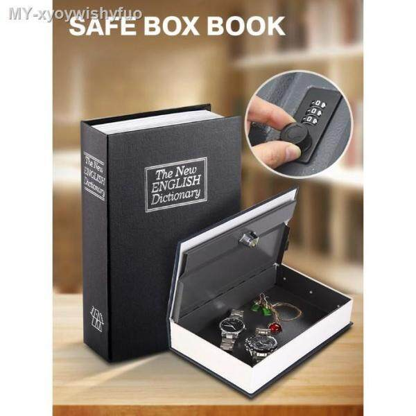 Anti Thief Metal Diversion Dictionary Book Safe Lock Box Buku Peti Selamat