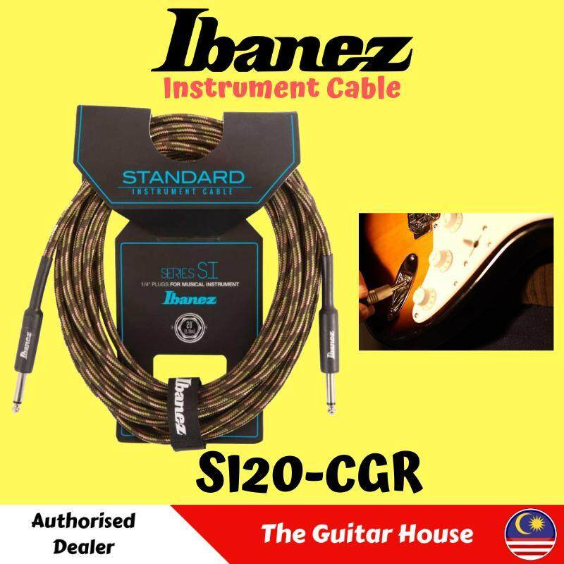 Ibanez SI20-CGR Woven Guitar Cable, 20ft (SI20CGR) Malaysia