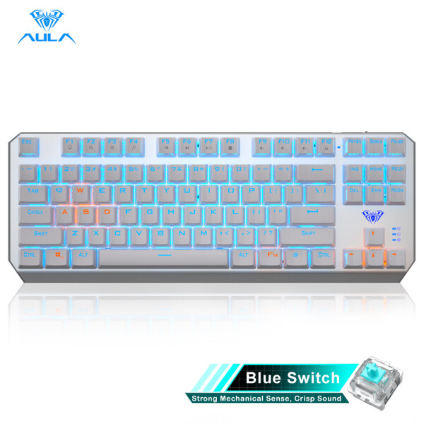 YFD AULA F3087 Real Mechanical Switch Gaming Keyboard Mixed Light Separation of key Lines Cool backlight system LED Backlit keyboard for Computer Gamer Singapore