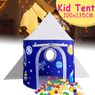 Lều Trẻ Em Lều Trẻ Em Nhà Chơi, Vải Polyester 190T Hành Tinh Ngoài Trời Trong Nhà, 135 100c thumbnail