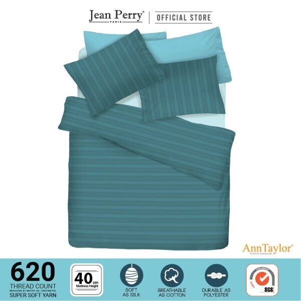 ❐✿  Ann Taylor Colour Inspiration Super Single 2-IN-1 Fitted Bedsheet Set - 620 Threadcount (40cm)