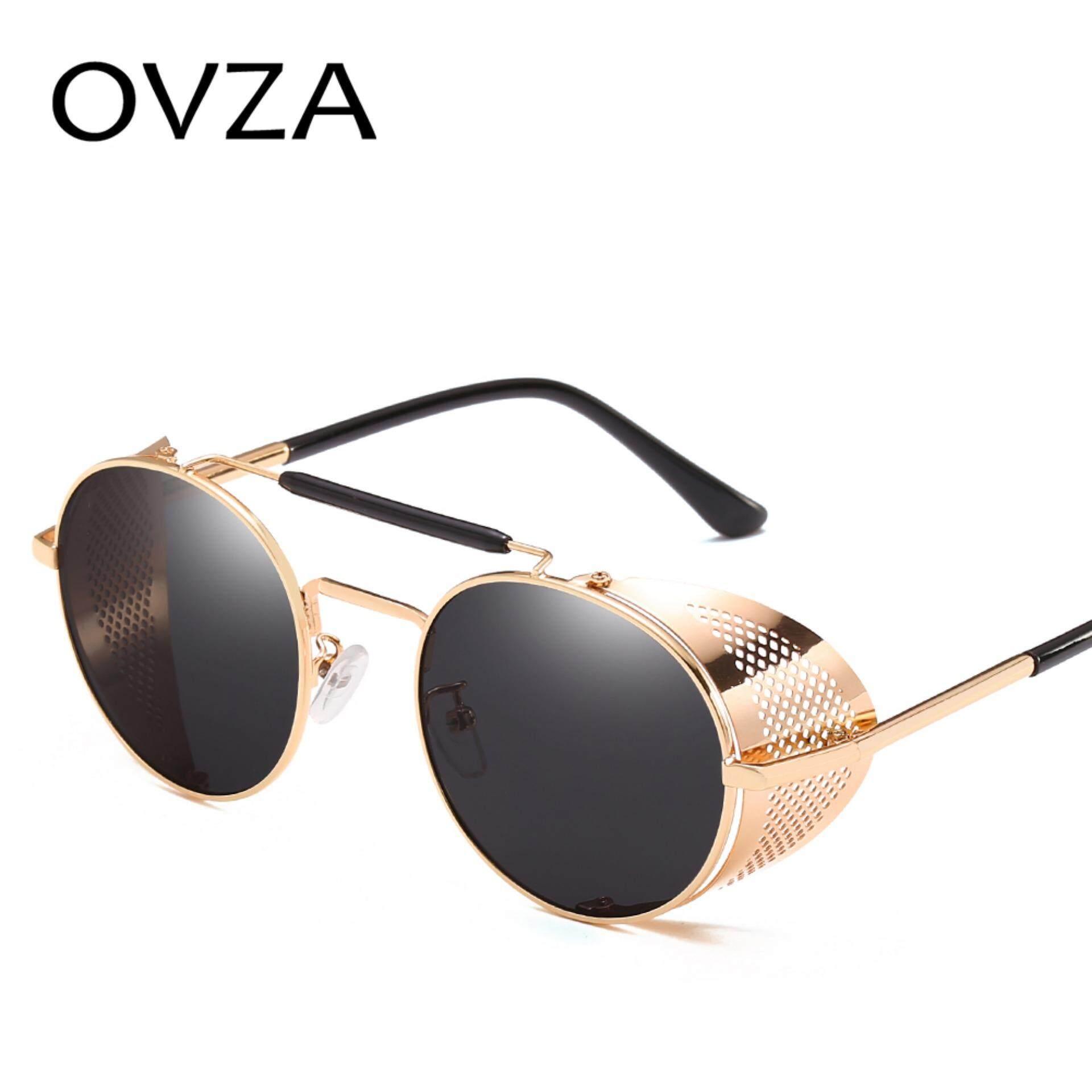 Steampunk Triangle Sunglasses Women Men Vintage Brand Designer Metal Sun Glasses