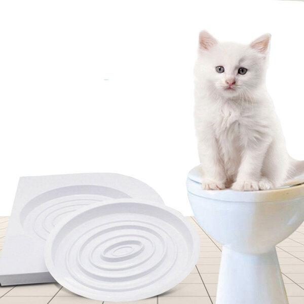 Bộ Dụng Cụ Huấn Luyện Vệ Sinh Cho Mèo Cưng KHAY VỆ SINH Huấn Luyện Hệ Thống Tàu Hỏa Cho Thú Cưng
