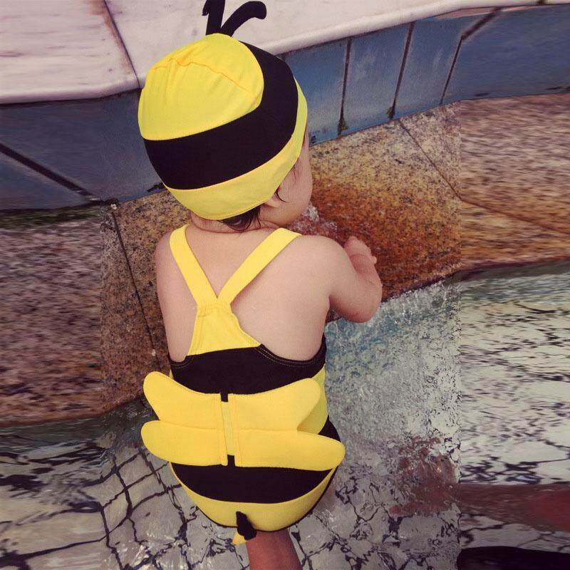 HuaX Baby Boys Girls Swimwear Summer Bee Shape One-piece Swimwear for Hot Spring Swimming Children Clothing