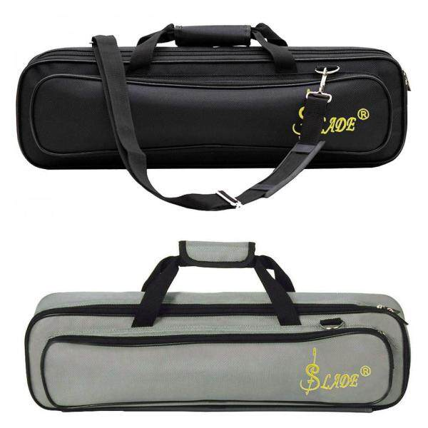 SLADE Portable Flute Bag Oxford Cloth Sponge Thickened Soft Inner Liner with Shoulder Strap Gray Malaysia