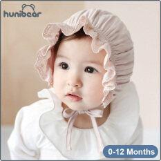 Mũ công chúa Hunibear vải cotton nguyên chất, mềm mại và thoải mái, thời trang xuân hè cho bé gái 0-12 tháng tuổi – INTL