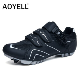 Giày Đạp Xe Leo Núi AOYELL, Giày Đạp Xe Thể Thao Ngoài Trời Cho Nam, Giày Đua Xe Chuyên Nghiệp Tự Khóa Zapatillas Ciclismo thumbnail