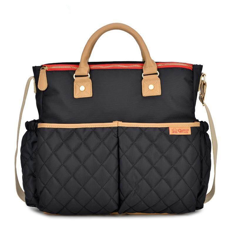 ความจุมากเป็นมิตรกับสิ่งแวดล้อมกระเป๋าคุณแม่กระเป๋าสะพายไหล่พร้อมสายกระเป๋าถือสำหรับหญิงตั้งครรภ์