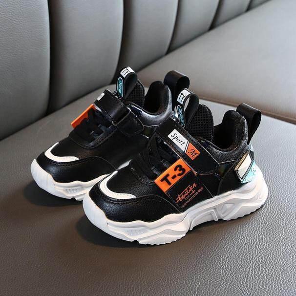 Giày thể thao trẻ em KIO chất liệu da, đế cao su, có đệm êm chân thoải mái thấm hút mồ hôi khô thoáng giá rẻ