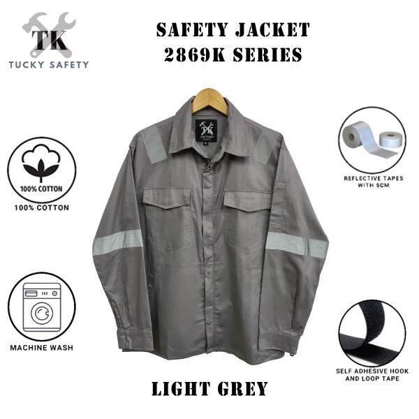 SIZE M - 4XL PPE NK SAFETY JACKET / BAJU KERJA / CLOTHES 2869K - GREY