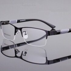 Kính cận nửa gọng hình chữ nhật HZP chống bức xạ, chống mỏi mắt dành cho nam và nữ, độ cận 0.1 – 4