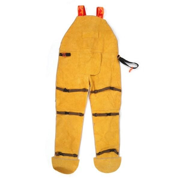 Overalls Men Wear-Resisting Fireproof Retardant Welding Cowhide Welder Protective Clothing Labour Suit OIverol Hombre Working
