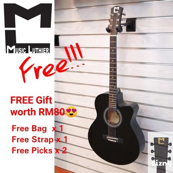 Original Beginner Acoustic Guitar 40 Inch Gitar Akusti Folk Guitar Truss Rod Color Black Guitar Malaysia