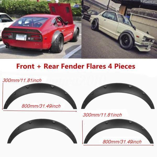 Jacky 4 Cái Universal Car Wheel Fender Pháo Sáng Linh Hoạt Nhưng Bền Polyurethane Đen