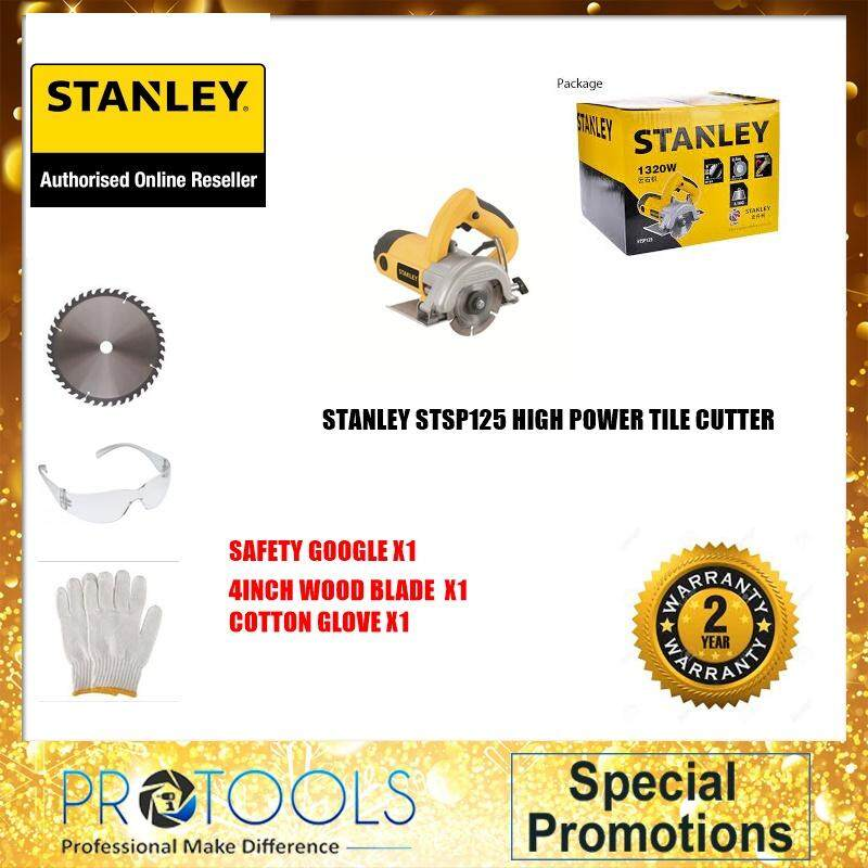 Stanley Stsp125 High Power Tile Cutter Foc 3 Thing! -Authorise Stanley Service Dealer By Protools One Stop Solution.
