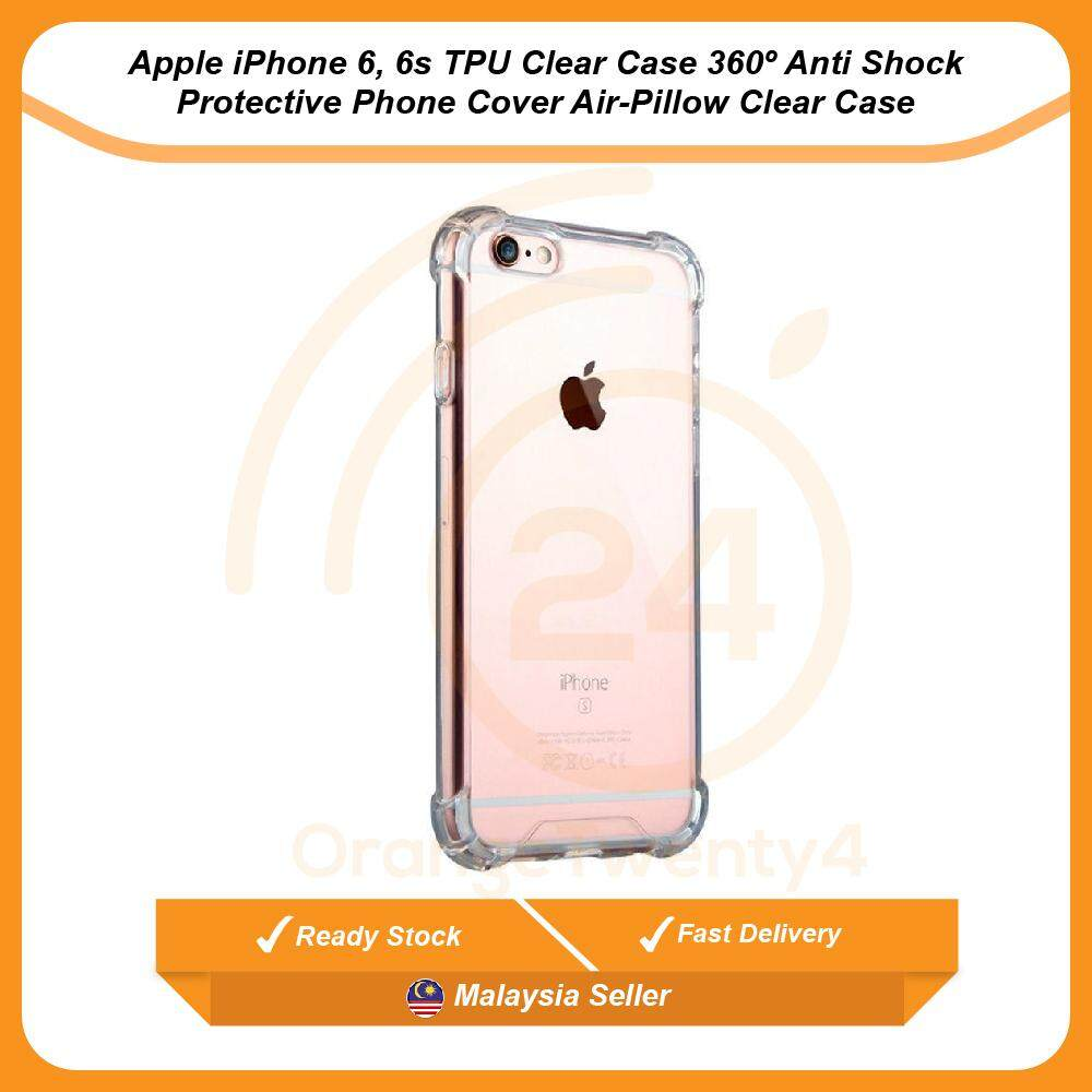 738387948c7056 Apple iPhone 6, 6S TPU Clear Case 360º Anti Shock Protective Phone Cover  Air-