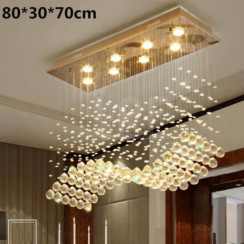 3 Color Led Crystal Ceiling Lamp