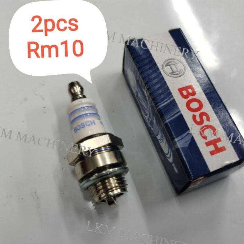 [2Pcs]Bosch Spark Plug WS8E suitable for Brush Cutter/Chain Saw/Mist Blower/Hand Blower