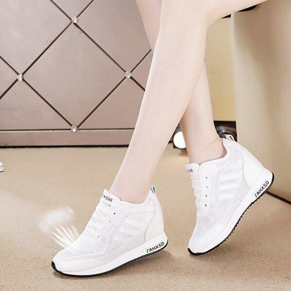 Giày Thể Thao Nữ Mùa Hè Quần Vợt Trắng Nữ Wedge Casual Sneakers Phụ Nữ Nền Tảng Thời Trang Da Lưu Hóa Giày Chạy giá rẻ