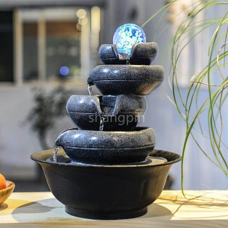 Shangpin Water Fountain Indoor Tabletop 5 layers Prosperity All Around Gift Decoration Display