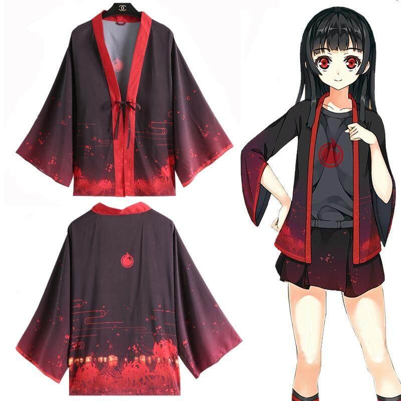 Giá bán Anime Nhật Bản Địa Ngục Cô Gái Jigoku Shojo Enma Ai Trang Phục Hóa Trang Kimono Yukata Quần Áo Khoác Ngoài Áo Khoác Unisex Hàng Ngày Haori