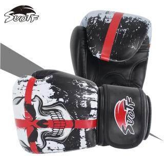 SUOTF MMA 6 Oz - 12 Oz Đen Boxing Skull Thể Thao Găng Tay Da Tiger Muay Thai Boxing Pads Chiến Đấu Phụ Nữ Nam Giới Sanda Boxe Thái Hộp Đựng Găng Tay Mma Hộp thumbnail