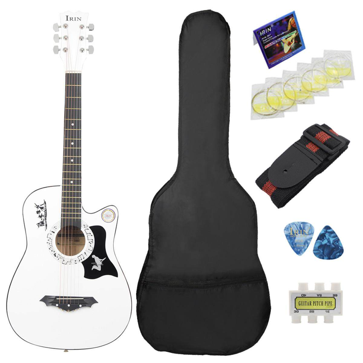IRIN 38'' inch 6 String Wood Acoustic Guitar Beginner Gifts with Bag ...
