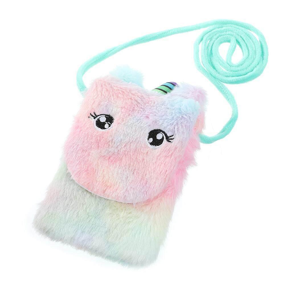 Women/'s Kawaii Plush Cat Handbag Soft Doll Toy Sling Carry Shoulder Bag Purse