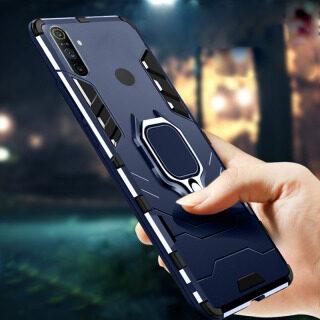 Ốp Lưng Nam Thiết Kế Mới 2021 Cho Realme C3 Ốp Lưng Vỏ Giáp Kim Loại Chống Sốc Sang Trọng Bằng Nhựa TPU Và PC Cứng Sang Trọng [Giá Đỡ Nhẫn] Ốp Lưng Điện Thoại thumbnail