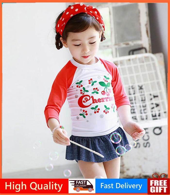 e8ff828146 Girl Swimming Baby Suit 2 Piece Korean Swimsuit Swimwear Child Girl Kid  Swimsuit