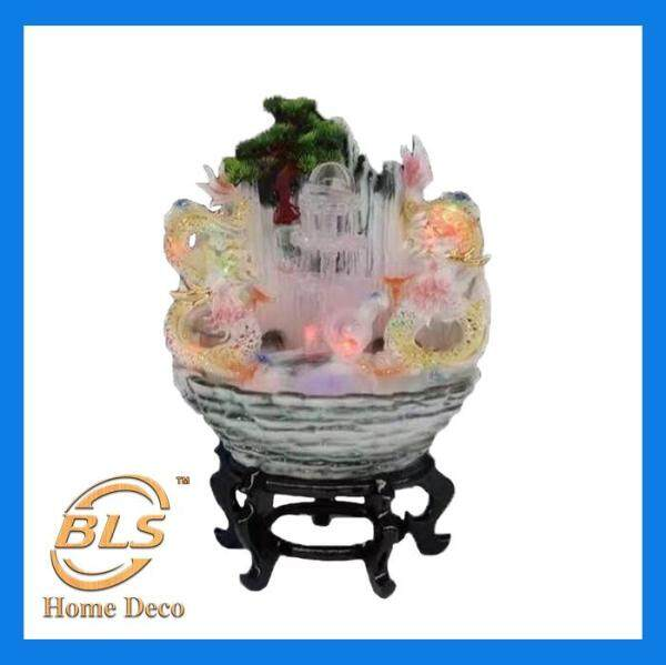 FENG SHUI WATER FOUNTAIN DOUBLE DRAGON DESIGN FEATURE DECORATION