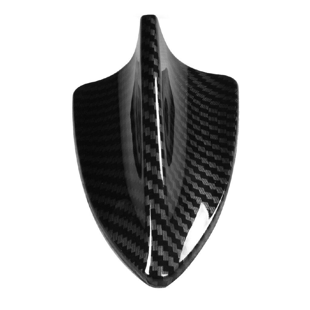 Universal Carbon Fiber Look Shark Fin Antenna Cover Radio FM//AM Decorate Trim