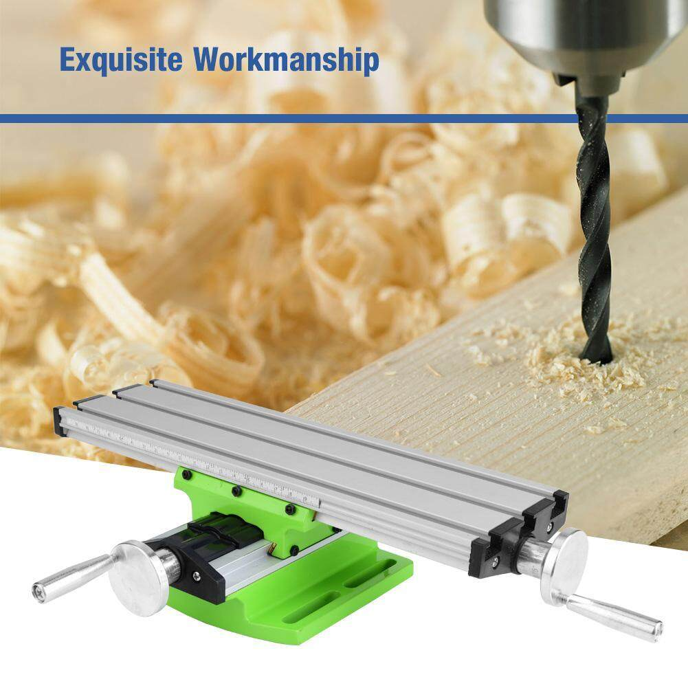Mini Multifunctional Cross Bench Drill Vise Adjustable XY Slide Worktable Milling Working Table
