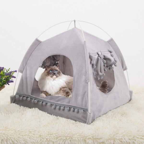 S-XL Ổ Cho Thú Cưng, Nhà Cho Chó Mèo, Giường Mềm Mại, Ấm Áp, Đệm Lót Cho Thú Cưng
