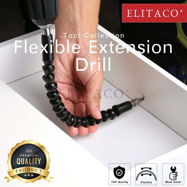 【ELITACO】Flexible Drill Bit Extension Magnetic Hexagon Flex Drive Tip Computer Chassis Electrical Cabinets Furniture