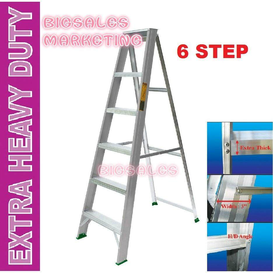 6 Steps BIGSALES Aluminium Single Sided Ladder / Tangga 6 Steps