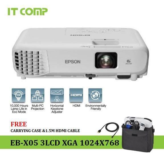 Epson EB-X05 3LCD XGA (3,300 Lumens / 10,000 Hours Lamp Life) Projector
