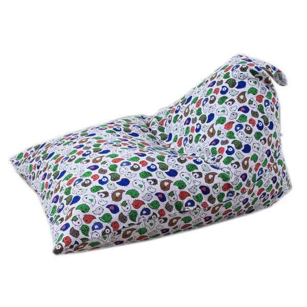 [HUADOAKA]Kids Stuffed Animal Plush Toy Storage Bean Bag Soft Pouch Stripe Fabric Chair