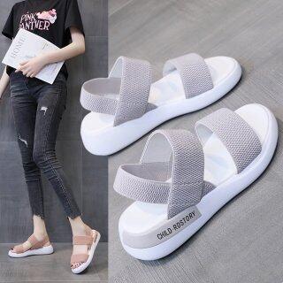 one yona Women s Sandals Wedges Footwear Summer Platform Sandals Women Shoes Female Slip on Peep Toe Knitted Ladies Sneakers Casual 2021 thumbnail