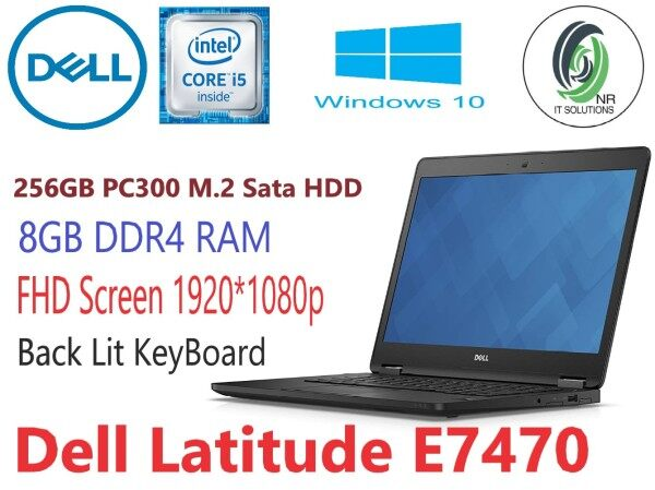 Dell Latitude E7470 ( Intel Ci5-6th Gen / 8GB RAM / 256GB SSD /14 Inch FHD Screen/ Win10Pro Malaysia