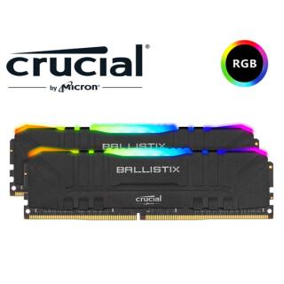 Bộ Nhớ Chơi Game Dành Cho Máy Tính Để Bàn 5Cgo Micron Crucial Ballistix RGB D4 3200MHz 16GB(8G 2) Đài Loan thumbnail